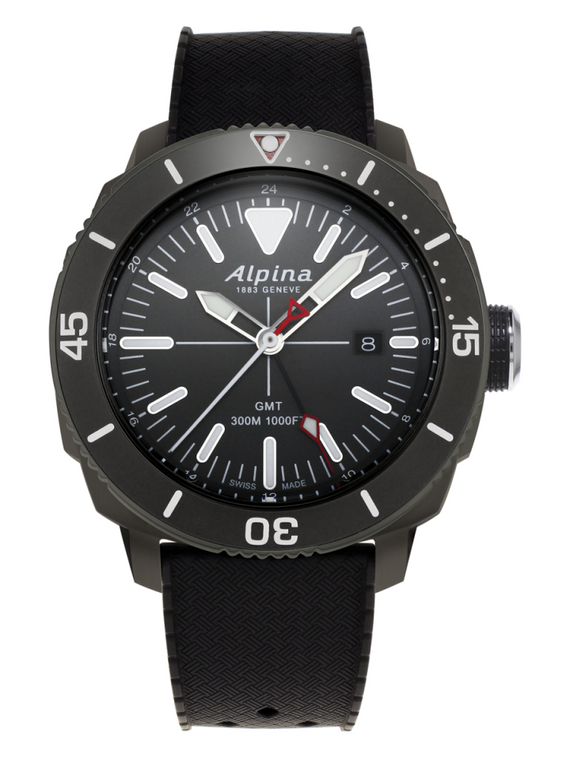 Alpina AL-247LGBRG4TV6 Seastrong Diver GMT Black Dial Black Bezel