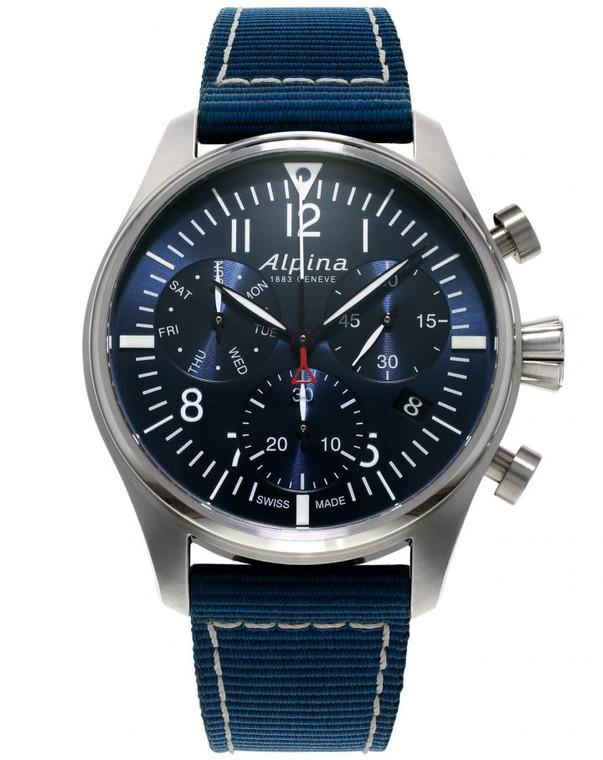 Alpina AL-371NN4S6 Startimer Pilot Chronograph Quartz Blue DIal