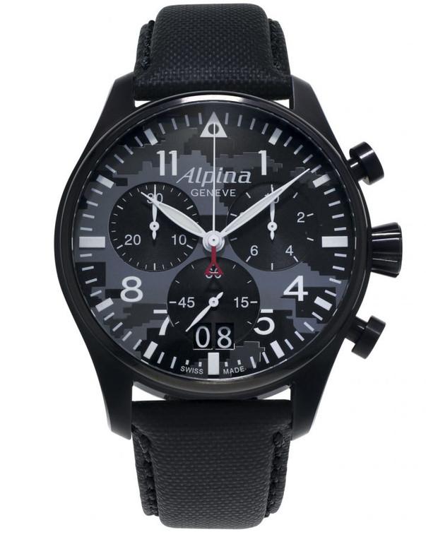 Alpina AL-372BMLY4FBS6 Startimer Pilot Big Date Chronograph Camo Dial