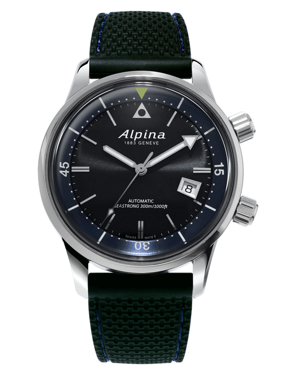 Alpina AL-525G4H6 Seastrong Diver Heritage Sunray Black Dial