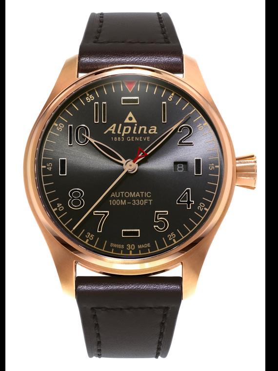 Alpina AL-525GG4S4 Startimer Pilot Shadow Line Automatic Rose Gold Case
