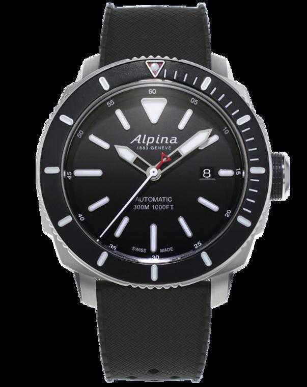 Alpina AL-525LBG4V6 Seastrong Diver 300 Automatic Black Dial