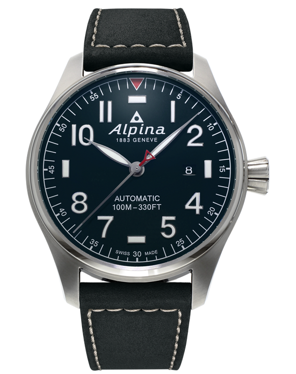Alpina AL-525NN4S6 Startimer Pilot Automatic Shadow Line Blue Dial
