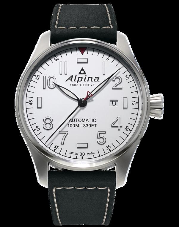 Alpina AL-525S4S6 Startimer Pilot Automatic White Dial