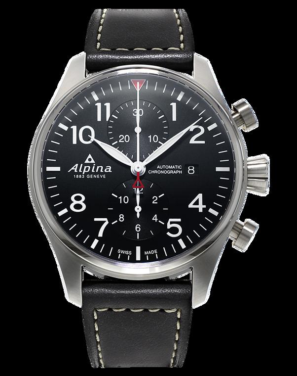 Alpina AL-725B4S6 Startimer Pilot Chronograph Black Dial