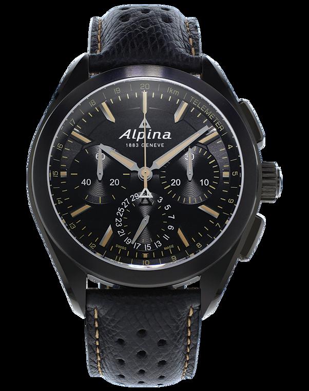 Alpina AL-760BBG5FBAQ6 Alpiner 4 Manufacture Flyback Chronograph Black Dial
