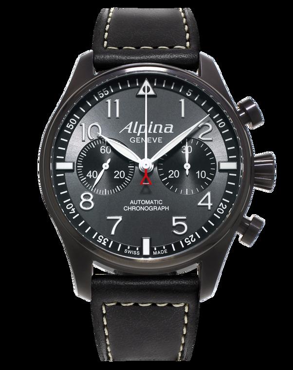 Alpina AL-860GB4FBS6 Startimer Pilot Manufacture Chronograph Blackstar Black Dial