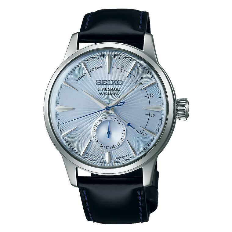 Seiko Presage SSA343 Automatic Sky Diving Ice Blue Cocktail Time Watch