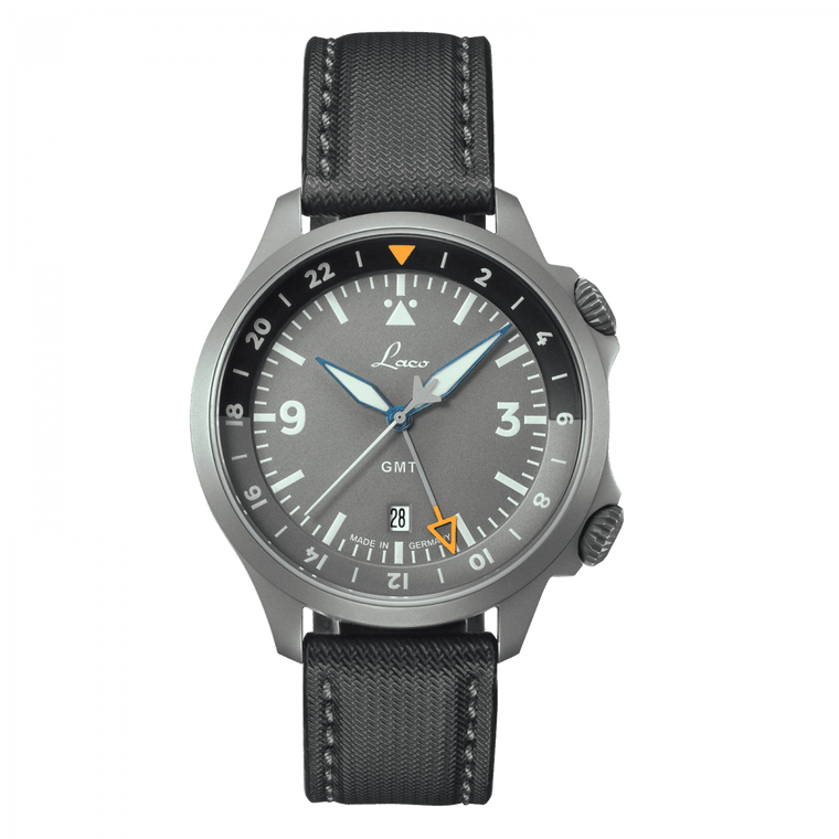 Laco Pilot Watches Special Models FRANKFURT GMT GRAU 862121