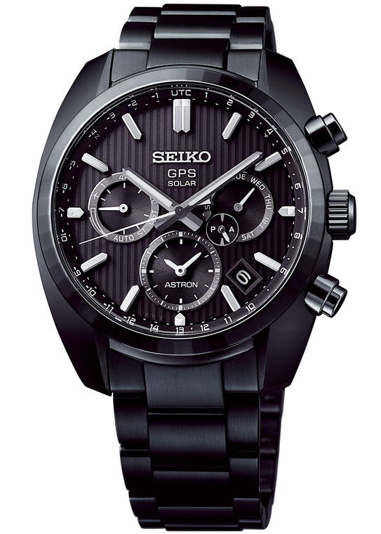 Seiko Astron SSH023 Limited Edition 50th Anniversary 1969 5x Series Dual Time Black Stainless Steel