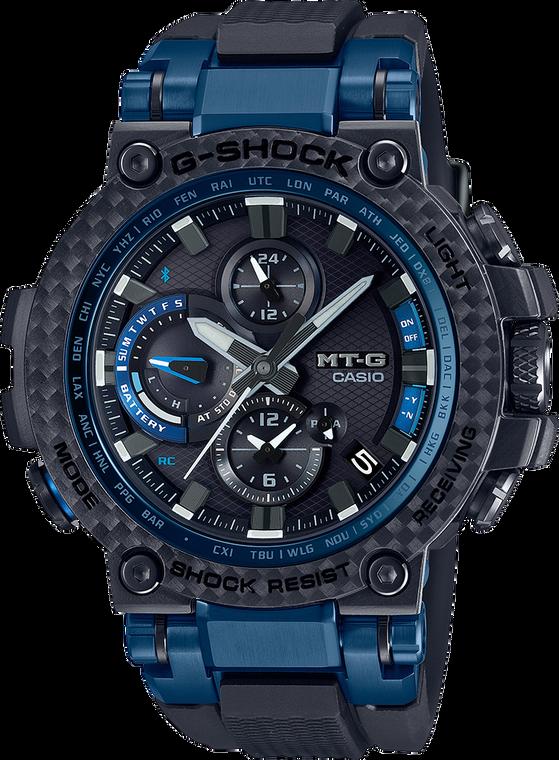 G-Shock MTGB1000XB-1A MT-G Carbon Fiber Bezel Smartphone Enabled Solar Watch