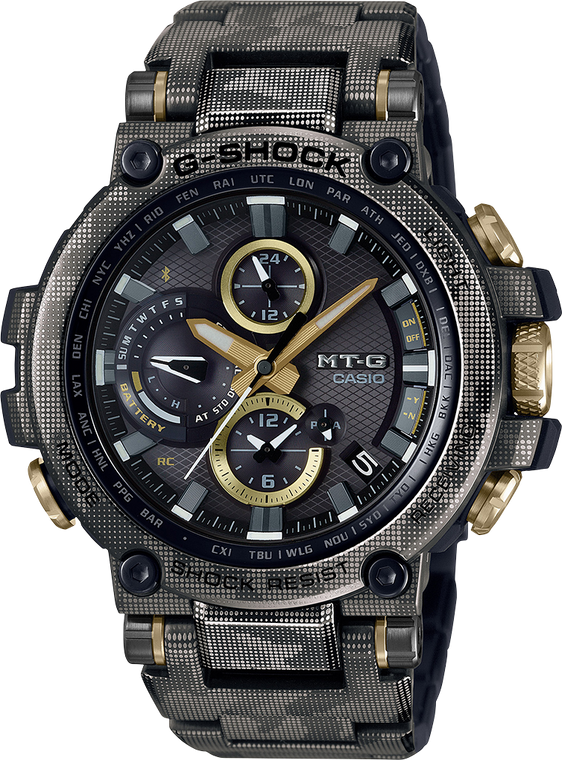 G-Shock MTGB1000DCM-1 Stainless Steel Camo Printed Limited Edition Bluetooth Enabled