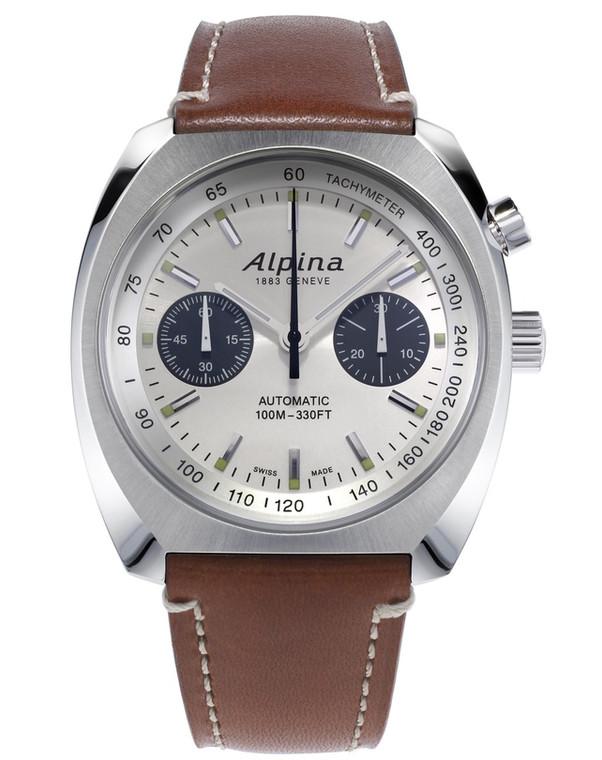 Alpina AL-727SS4H6 Startimer Pilot Heritage Chronograph Silver Dial