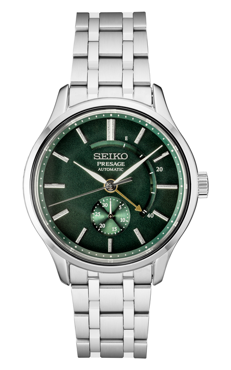 Seiko Presage SSA397 Green Dial Power Reserve