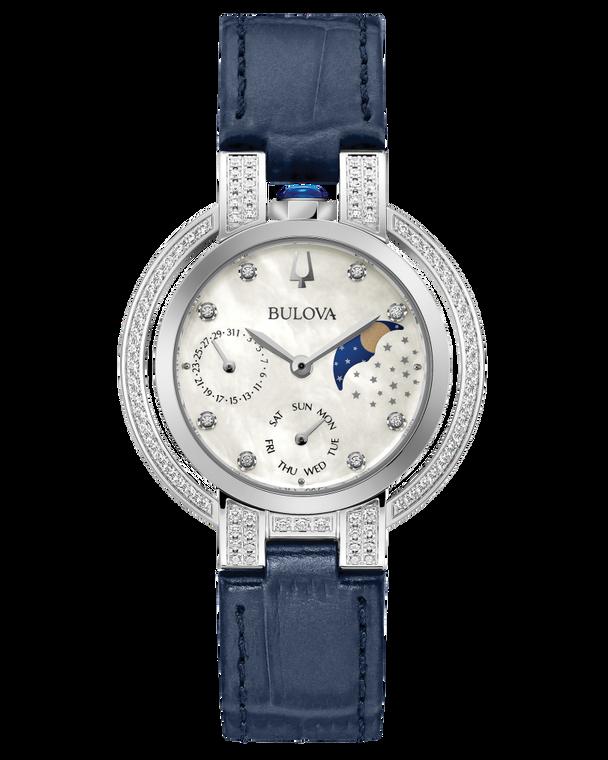 Bulova 96R237 Rubaiyat Goddess of Time 78 Diamonds Moonphase Watch