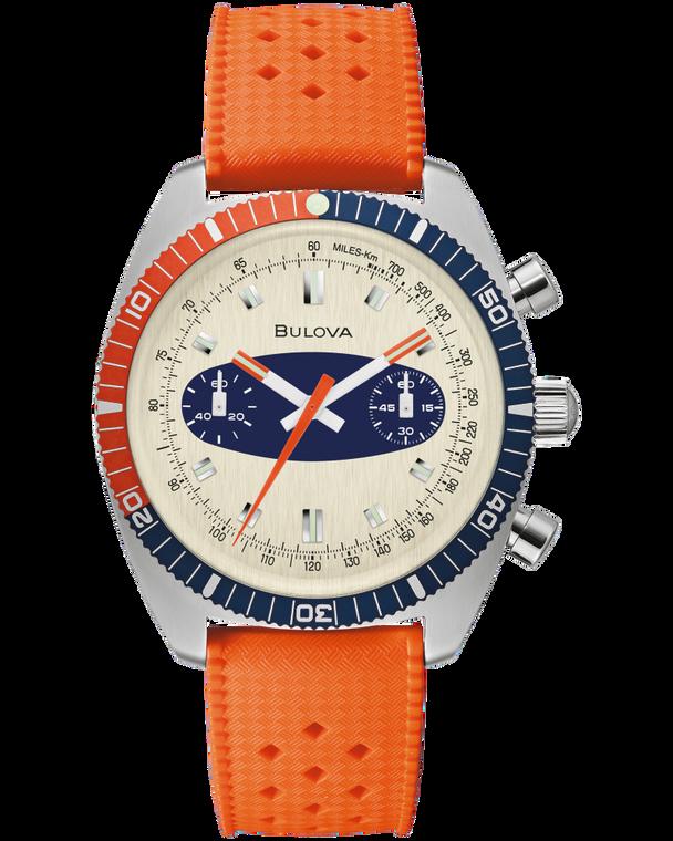 Bulova 98A254 Surfboard Chronograph A Stainless Steel Watch Orange