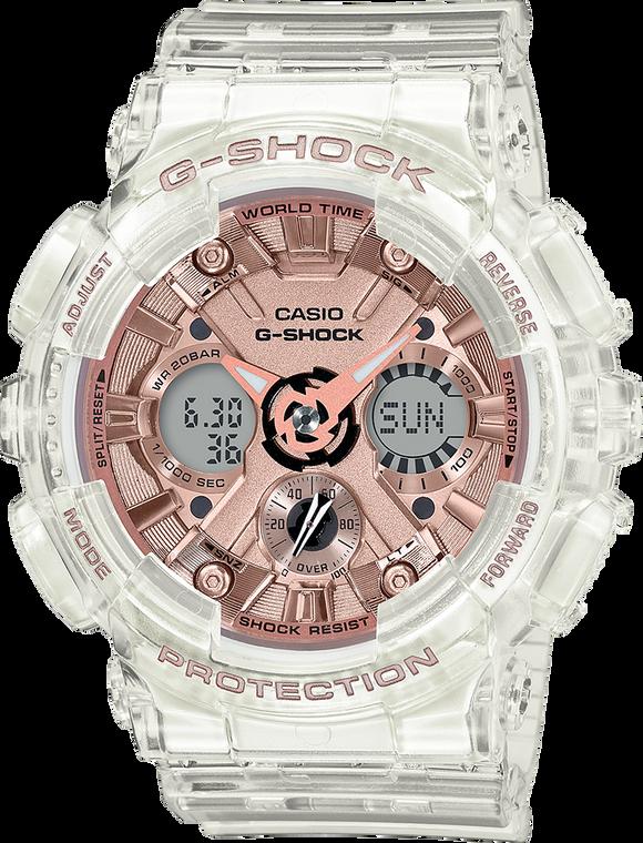 G-Shock GMAS120SR-7A Rose Gold Transparent
