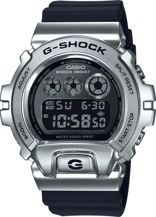 G-Shock GM6900-1 Stainless Metal Bezel 25th Anniversary