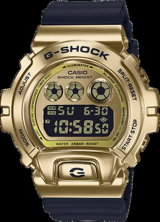 G-Shock GM6900G-9 Stainless Metal Gold Bezel 25th Anniversary