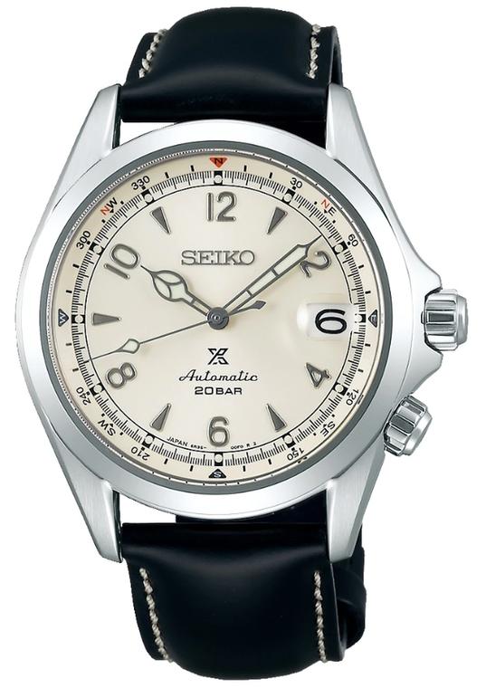 Seiko Prospex SPB119 Alpinist Cream Dial Black Strap