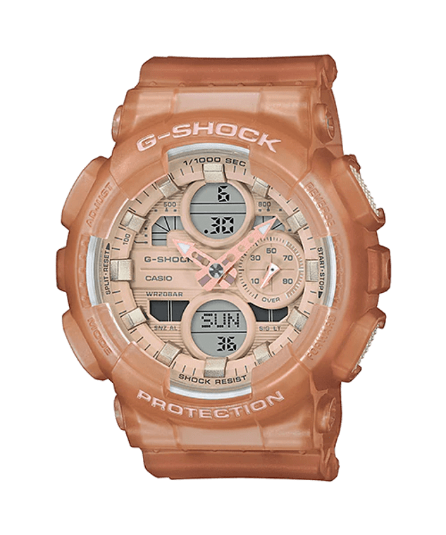 G-Shock GMAS140NC-5A1 Frosted Translucent Brown