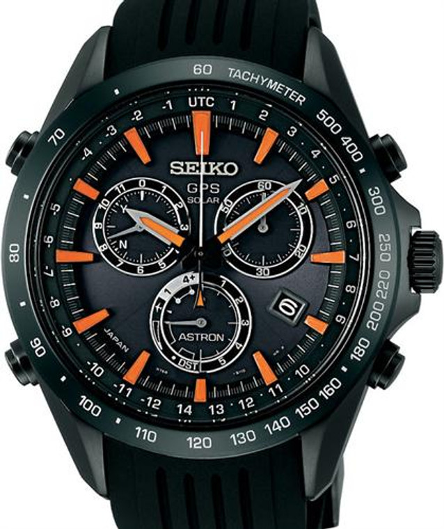 Seiko SSE017 Astron GPS Solar Orange Accents // Pre-Owned