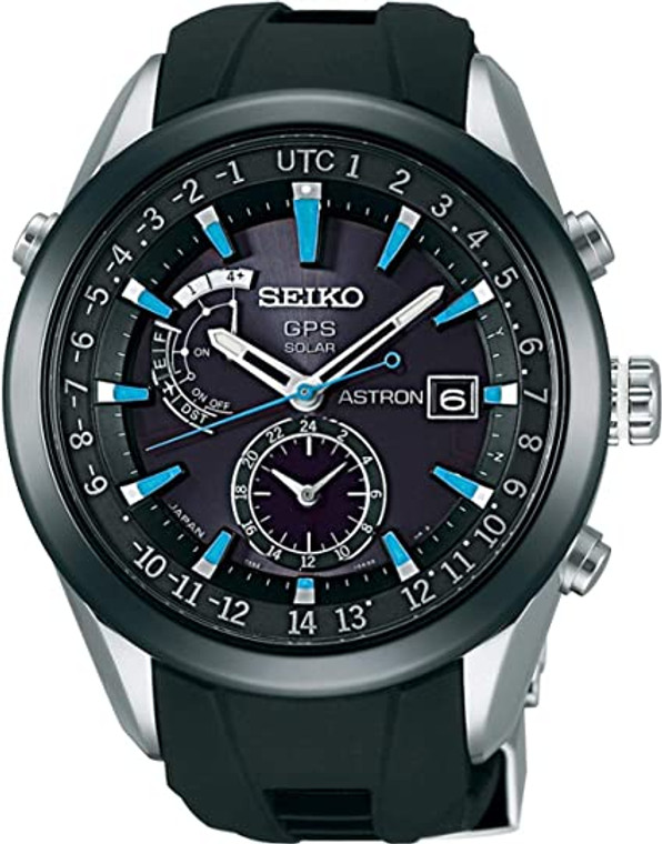 Seiko Astron SAST009G Blue Accent GPS Solar World Time // Pre-Owned