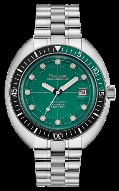 Bulova 96B322 Devil Diver Green Dial // Pre-Owned