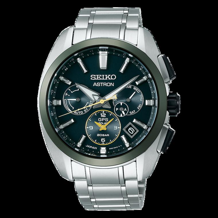 Seiko Astron SSH071 Limited Edition GPS Solar Green Dial