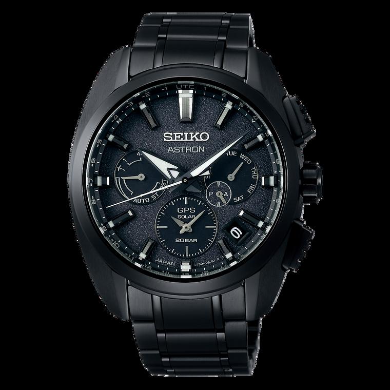 Seiko Astron SSH069 GPS Solar Black Dial and Case