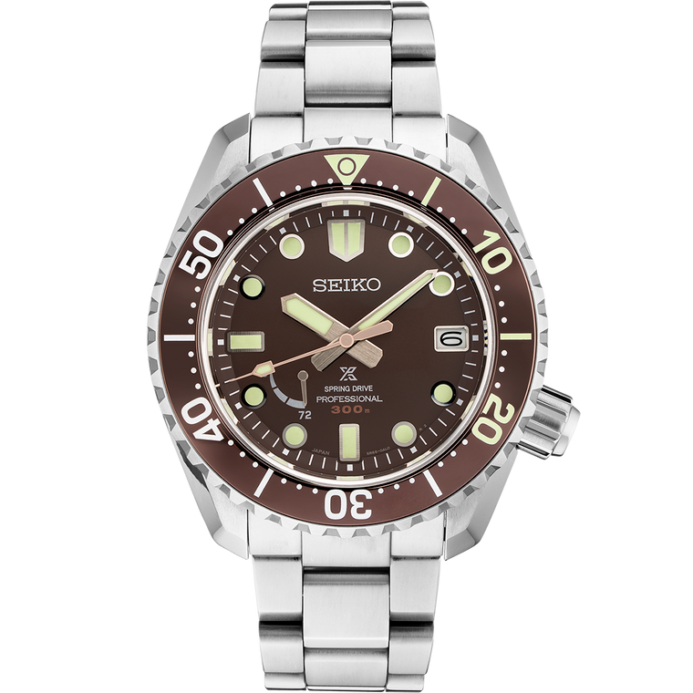 Seiko Prospex SNR041 Spring Drive GMT Power Reserve Root Beer Dial Automatic Limited to 200 Pieces