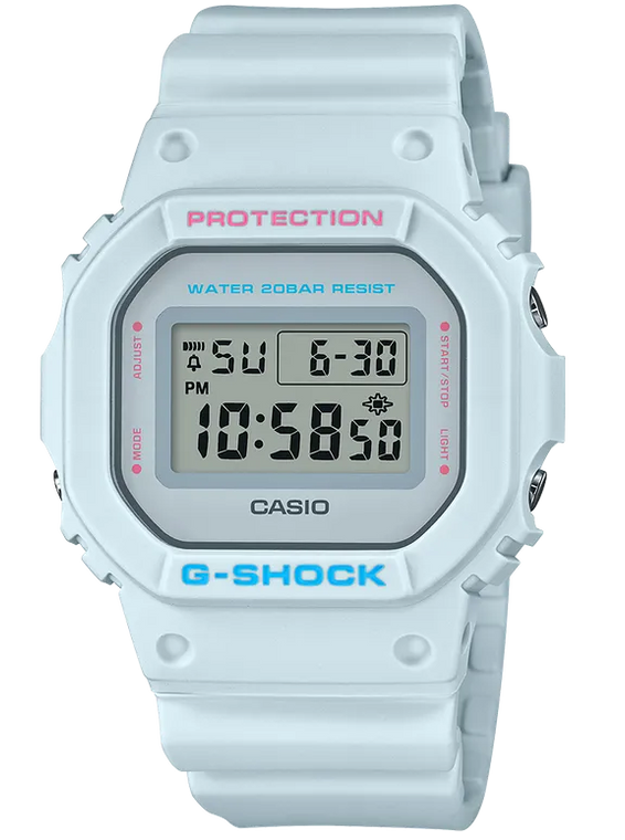 G-Shock DW5600SC-8 Youth Culture Pale Gray Square Face