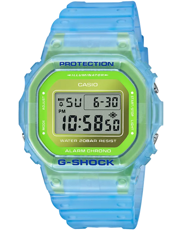 G-Shock DW5600LS-2 Semi-Transparent Fluorescent Square