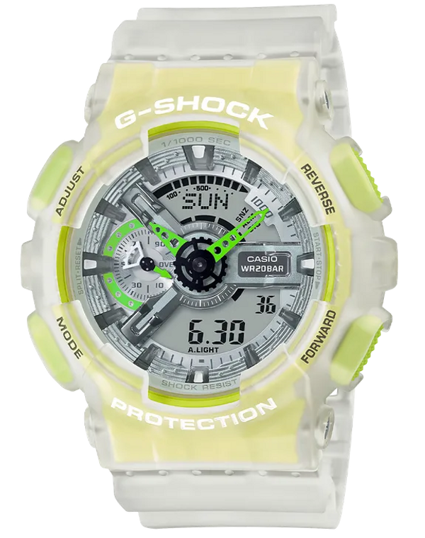 Casio G-Shock GA110LS-7A Semi-Transparent Acid Green Fluorescent Ana-Digital Watch
