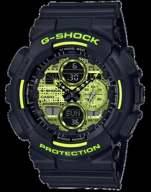 Casio G-Shock GA140DC-1A Ana-Digital Acid Green Men's Watch