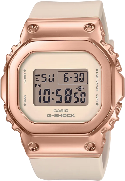 Casio G-Shock GMS5600PG-4 Compact Active Ladies Square Design Pink Band