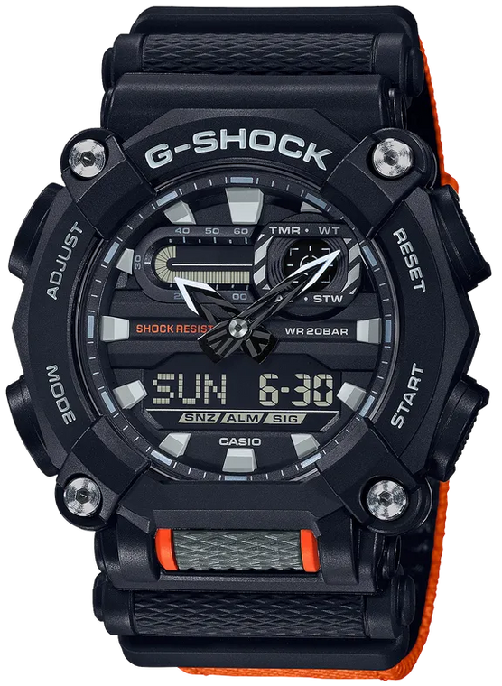 Casio G-Shock GA900C-1A4 Heavy-Duty Industrial Design Orange