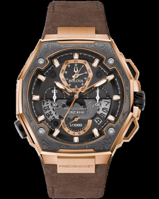 Bulova 98B355 Precisionist X Special Edition Damascus Chronograph Brown