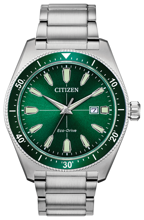Citizen AW1598-70X Eco-Drive Bryson Green Dial Stainless Steel