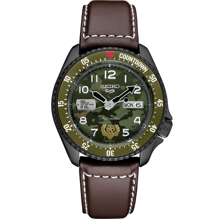Seiko 5 Sports SRPF21 Street Fighter Guile Limited Edition