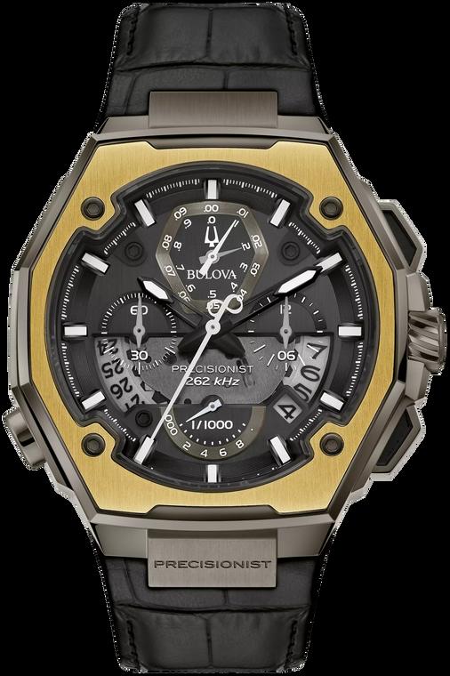 Bulova 98B354 Precisionist X Special Edition Damascus 18K Ring Chronograph