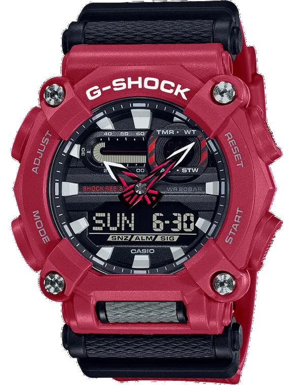 Casio G-Shock GA900-4A Heavy Duty Ana-Digital Red