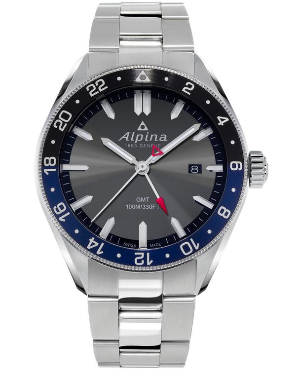 Alpina AL-247GB4E6B Alpiner Quartz GMT Dark Grey Bracelet
