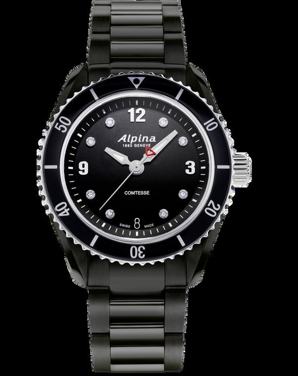 Alpina AL-240BD3FBC6B Alpiner Comtesse Sport Quartz Black Bracelet