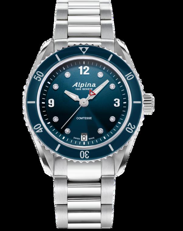 Alpina AL-240ND3C6B Alpiner Comtesse Sport Quartz Blue Bracelet