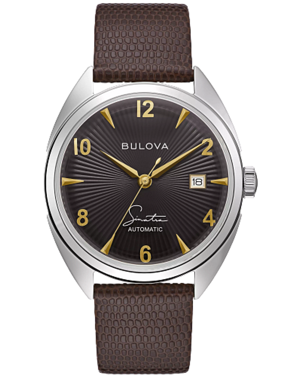 Bulova 96B348 Frank Sinatra Fly Me To The Moon Automatic Textured Black Dial