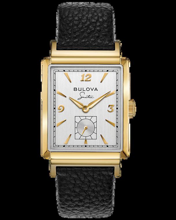 Bulova 97A158 Frank Sinatra My Way Small Seconds Gold Tone Quartz