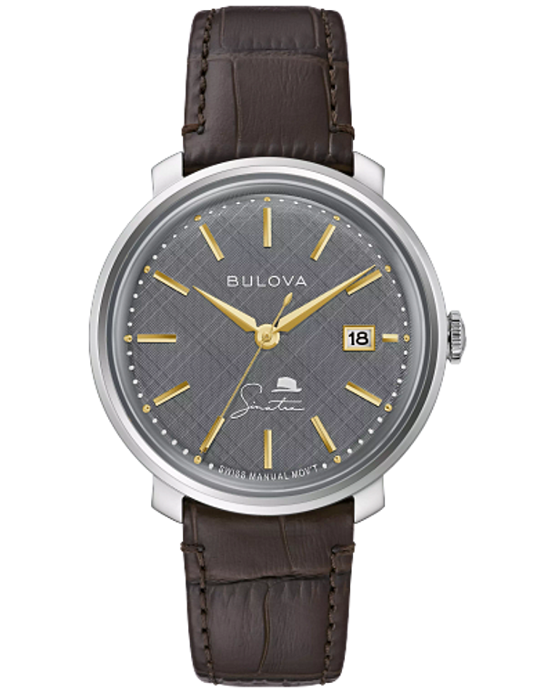 Bulova 96B345 Frank Sinatra Best is Yet to Come Gray Textured Dial Manual Wind