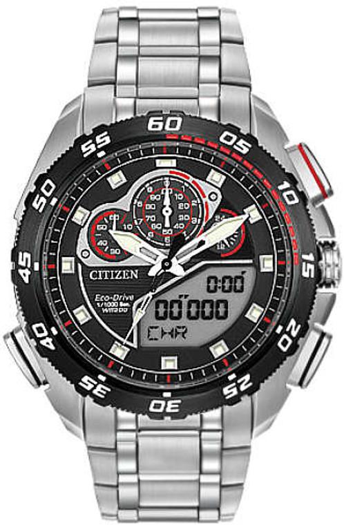Citizen JW0030-55E Eco-Drive Promaster SST Titanium Alarm Chronograph // Pre-Owned