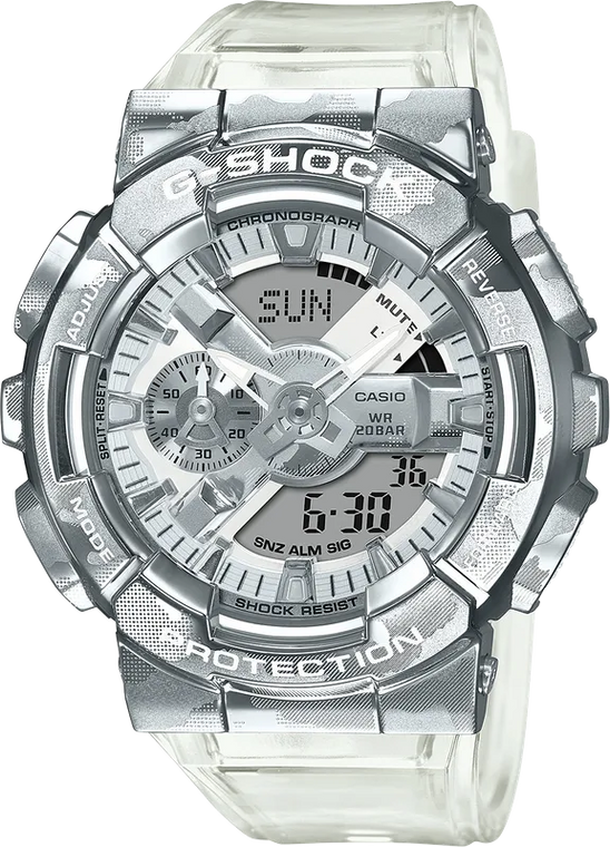 G-Shock GM110SCM-1A Metal Covered Semi-Transparent Camouflage